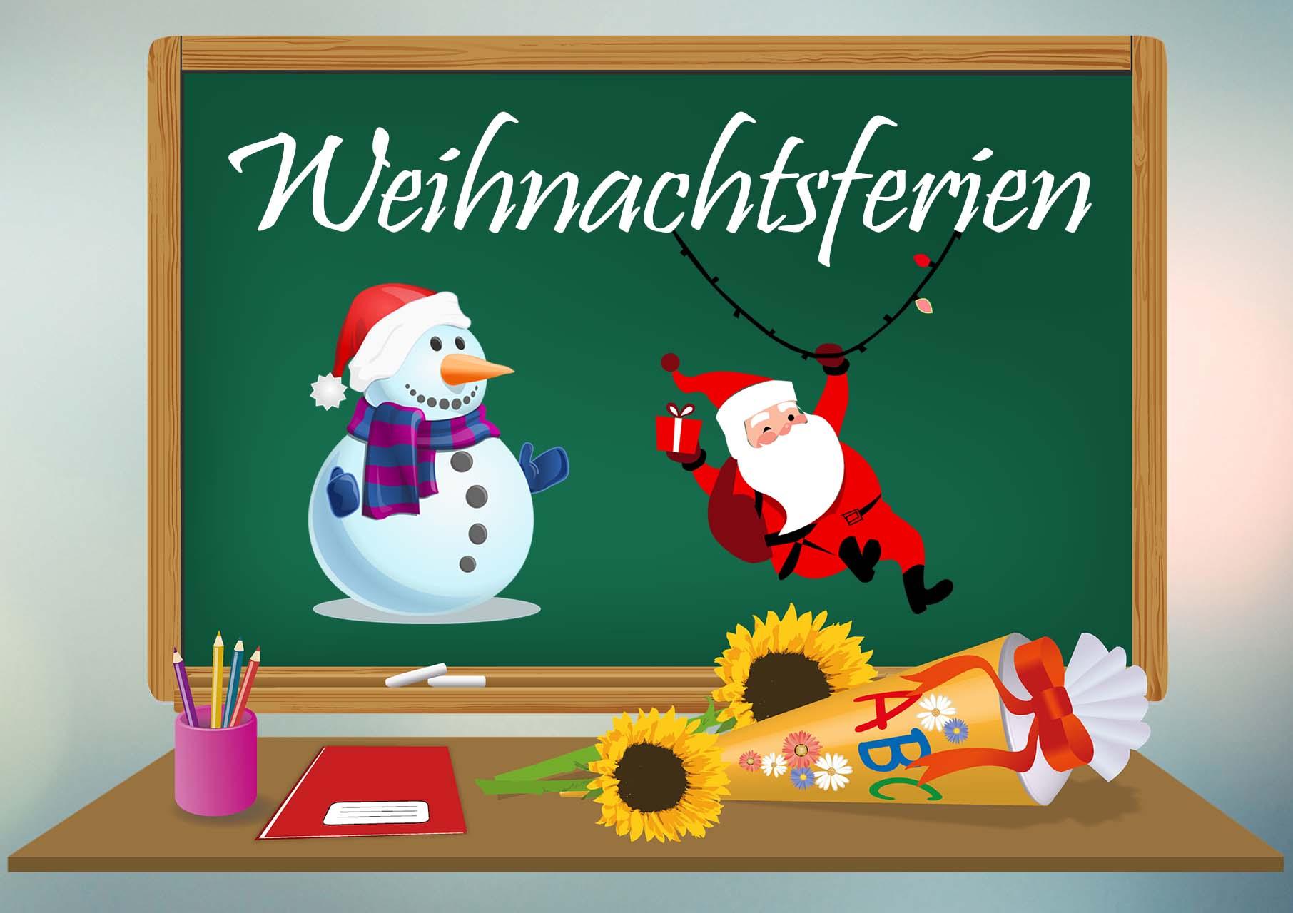 Informationen zu den Weihnachtsferien   Schule am Schlosspark Aulendorf